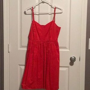 Red orange gap dress